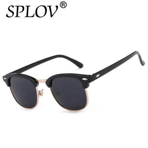 Мужские классические поляризованные солнцезащитные очки с зеркальными линзами