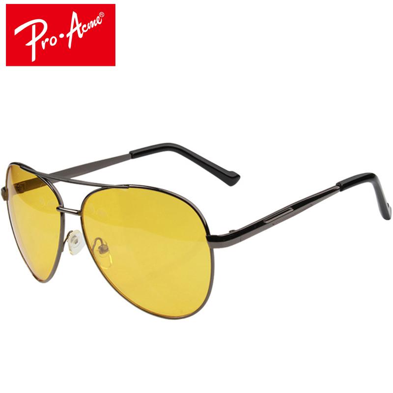 Мужские классические солнцезащитные очки авиаторы с желтыми антибликовыми  линзами 1d593c61a2a