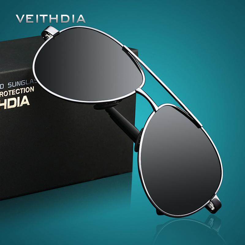 VEITHDIA Мужские классические поляризованные солнцезащитные очки авиаторы с  антибликовыми линзами 151f6f2ae1c