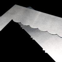 Набор скребков шпателей 2 шт. для выравнивания тортов