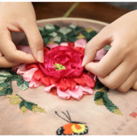 Наборы вышивки лентами