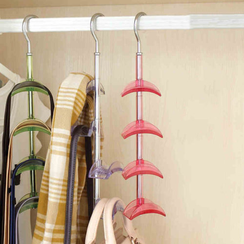 Вешалка держатель органайзер для хранения сумок в шкафу