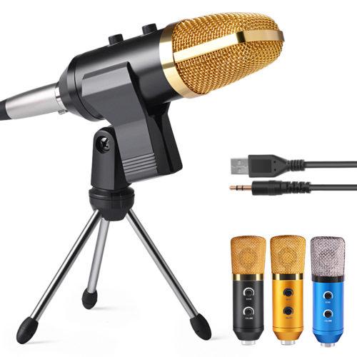KEXU MK-F100TL профессиональный кардиоидный конденсаторный USB микрофон для компьютера