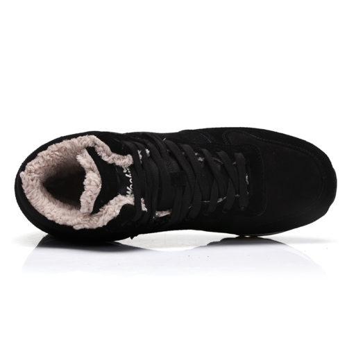 Bolangdi мужские и женские зимние теплые кроссовки на шнуровке с мехом внутри