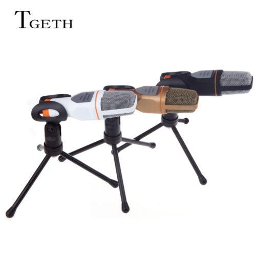 TGETH SF-666 профессиональный проводной конденсаторный микрофон с держателем-подставкой для компьютера