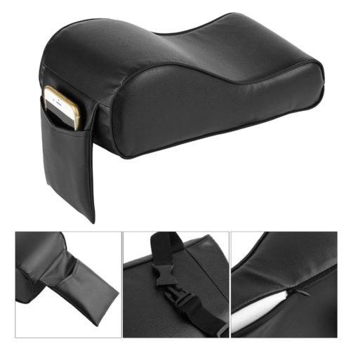Кожаный подлокотник в автомобиль с креплением для телефона