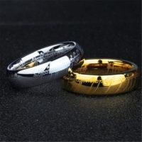 Мужское кольцо Всевластия (из Властелин колец) из вольфрама с надписью