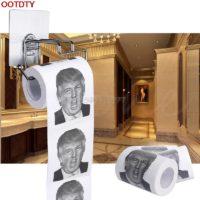 Туалетная бумага с изображением Дональда Трампа