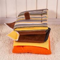 Складной домик-кровать с крышей с подстилкой-подушкой внутри для домашних животных (собак, кошек)