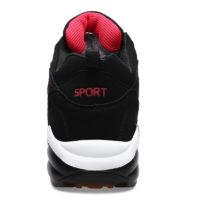 Мужские и женские зимние теплые спортивные кроссовки на шнуровке с мехом внутри