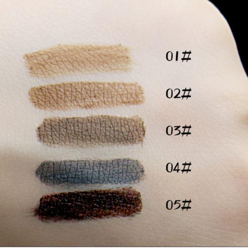 By Nanda Стойкий гель-краска-тени для оформления бровей (5 оттенков) + кисточка с другой стороны карандаша