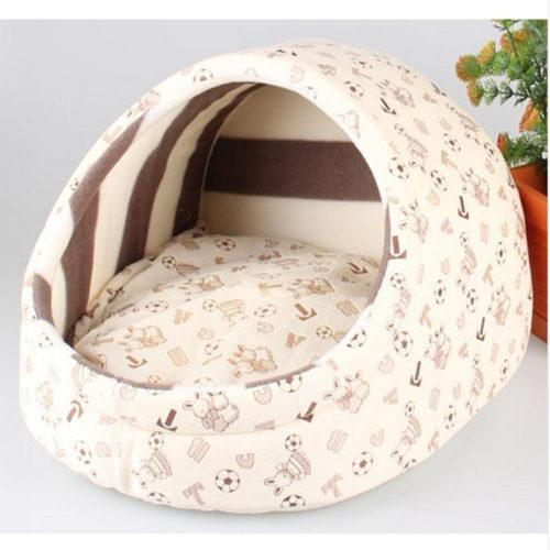 Компактный домик с подушкой для лежания для кошек и небольших собак