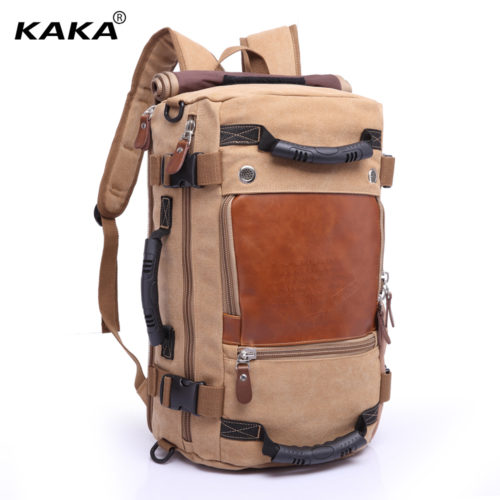 Дорожный большой тканевый практичный рюкзак-сумка для путешествий