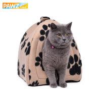 Компактный домик из мягкого флиса для котов и небольших собак, с ручкой для переноски