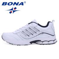 BONA мужские спортивные кроссовки для бега (черные, белые и серые)