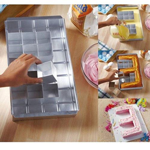 Алюминиевая форма со съемными блоками для выпечки букв алфавита и цифр