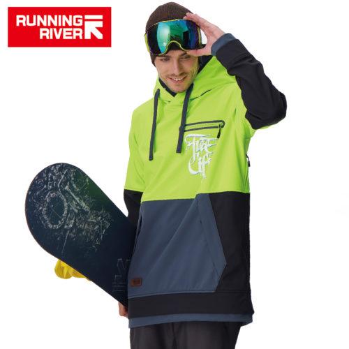 RUNNING RIVER Мужская куртка-худи с капюшоном для катания на сноуборде