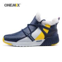 ONEMIX Мужские и женские зимние теплые спортивные кроссовки с мехом внутри (36-45 размеры)