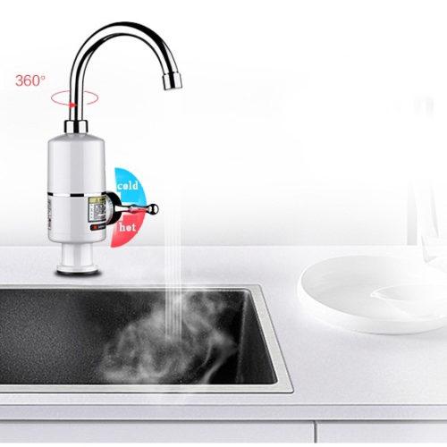 KBAYBO Электрический водонагреватель смеситель с керамическим краном (вращение 360 градусов)