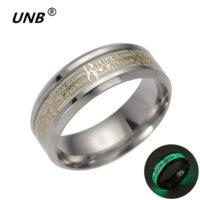 Мужское кольцо Dota 2 из нержавеющей стали, светящееся в темноте
