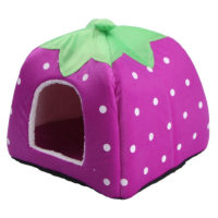 Теплый домик-кровать в виде клубники с подстилкой внутри для домашних животных (собак, кошек)