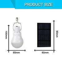 Лампочка 15 Вт, работающая от солнечной панели