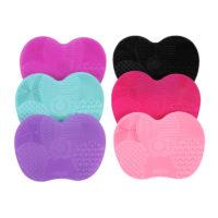 Силиконовый коврик на присосках для мытья косметических кистей для макияжа