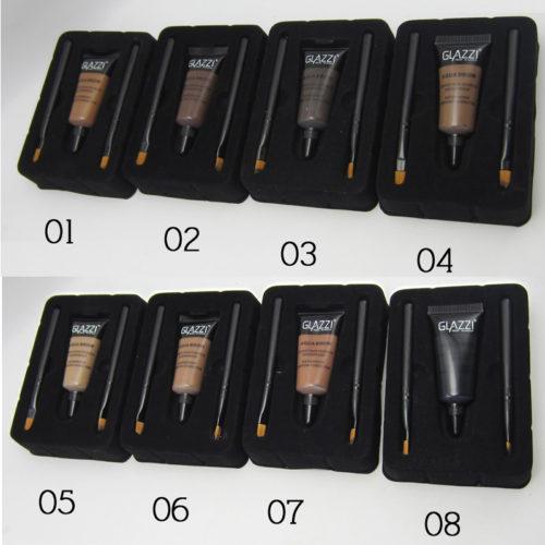 GLAZZI Стойкий гель-краска-тинт для оформления бровей (8 оттенков) + 2 кисточки