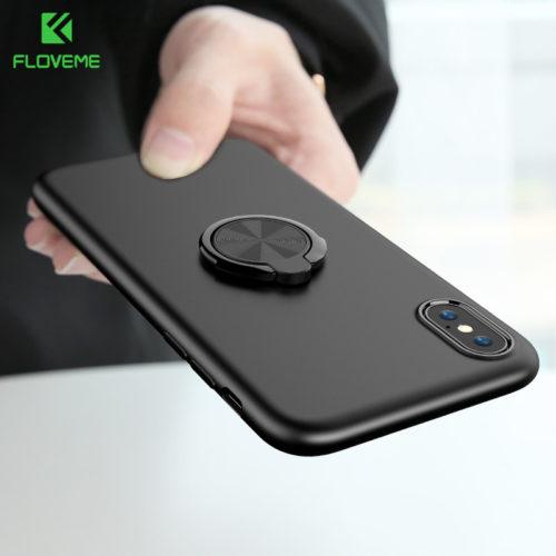 FLOVEME ультратонкий матовый чехол с кольцом для пальца на айфон iPhone