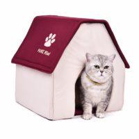 Складной домик-кровать с крышей и подстилкой для домашних животных (собак, кошек)
