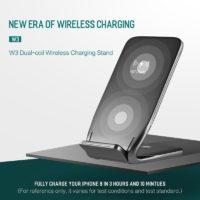 ROCK Беспроводное универсальное зарядное устройство-подставка с функцией быстрой зарядки для Samsung, iPhone и других смартфонов