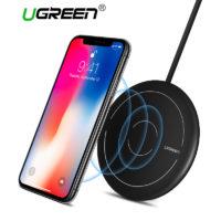 Ugreen Беспроводное универсальное круглое зарядное устройство с функцией быстрой зарядки для Samsung, iPhone и других смартфонов