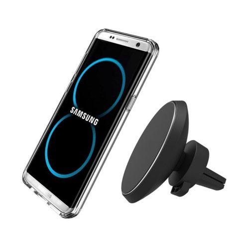 Henzarne Беспроводное автомобильное магнитное зарядное устройство-держатель для телефона iPhone, Samsung с поворотом на 360 градусов