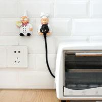 Настенные самоклеющиеся держатели для вилок электроприборов на кухне 2 шт.