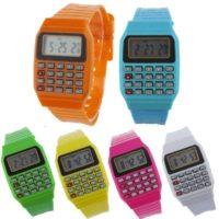 Наручные силиконовые детские часы-калькулятор