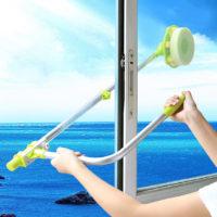 Телескопическая щетка губка для мытья окон снаружи