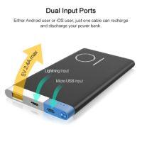 Rock Power bank портативное ультратонкое зарядное устройство аккумулятор на 10000 мАч