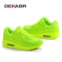Мужские и женские спортивные классические сетчатые кроссовки одного цвета на шнуровке для бега 35-44 размеры