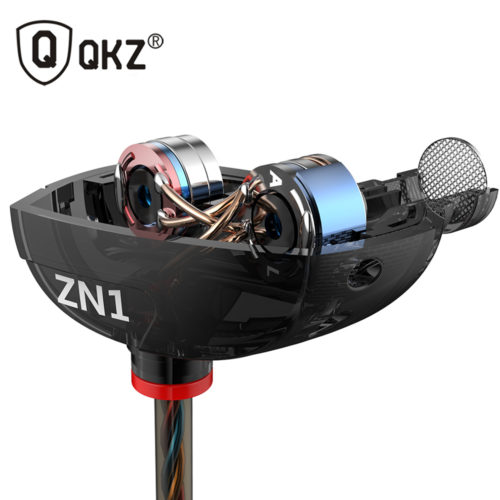 Qkz zn1 Вакуумные качественные наушники-вкладыши-гарнитура 3,5 мм с микрофоном или без