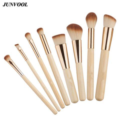 Набор кистей для макияжа из бамбука и синтетического ворса 8 шт.