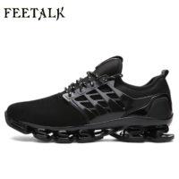 Мужские спортивные летние дышащие кроссовки на шнуровке 38-46 размеры