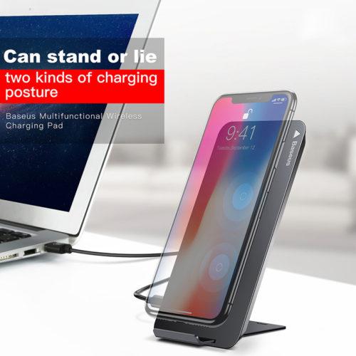 BASEUS QI Беспроводное универсальное зарядное устройство-подставка для Samsung, iPhone, Lumia, LG