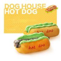 Лежанка для собаки в виде хот-дога