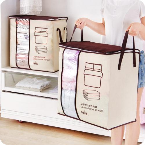 Складная сумка на молнии для хранения одеял, подушек