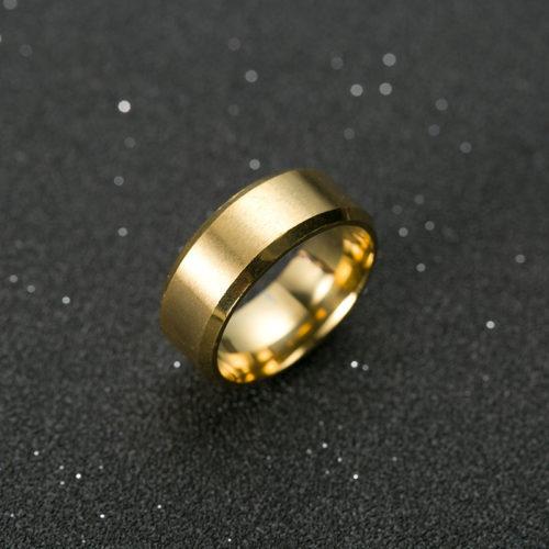 Мужское кольцо из титана (черный, серебристый, золотой)