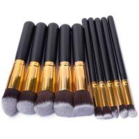 Набор кистей для макияжа разных цветов 10/11 шт.