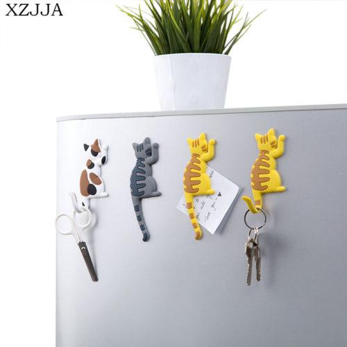 Магнит-крючок на холодильник в виде кота