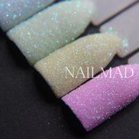 Nail Mad пастельная пудра с блестками для дизайна ногтей 6 шт.