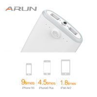 ARUN Power bank dual usb портативное ультратонкое зарядное устройство аккумулятор на 20000 мАч