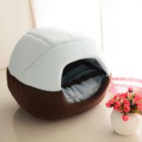 Уютный мягкий домик-кровать со съемным верхом и подушкой для лежания для кошек и собак